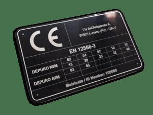 targhe CE con incisione laser