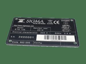 targhe ce con codice a barre incisione laser