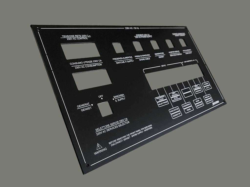 targhetta CE con incisione laser