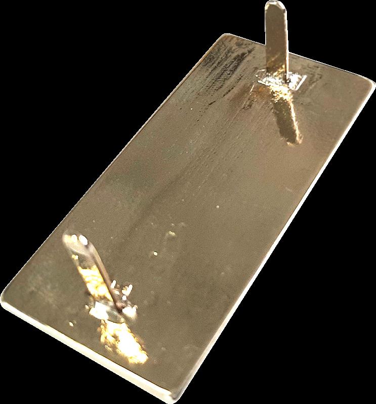 targhetta in legno con incisione laser