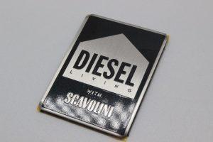 targhetta acciaio serigrafato