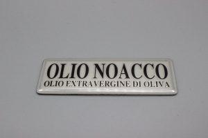 targhetta ottone cromato serigrafato
