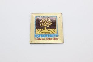 targa ottone serigrafato
