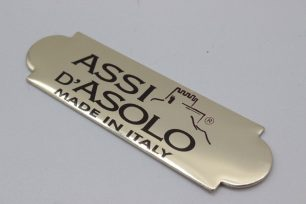 targa serigrafata in alluminio