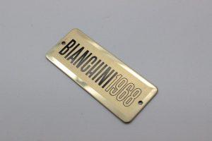 targa alluminio serigrafato